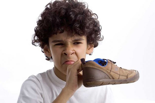 To deodorize shoes, place a dry tea bag in each shoe and leave overnight to absorb the smell. Repeat if necessary.